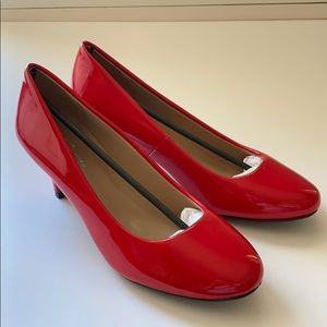Forever Red Patent Leather Heels Size 8.5